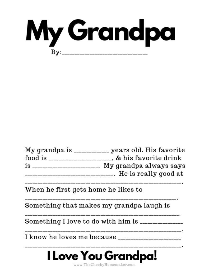 picture regarding All About Grandpa Printable known as Free of charge PRINTABLE FATHERS Working day Playing cards The Cheeky Homemaker